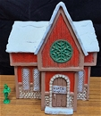 Santa's Workshop - painted expanded foam resin