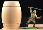Large Real Wooden Barrel - 54mm scale