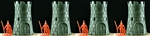 HO-Scale Castle Towers - set of 4