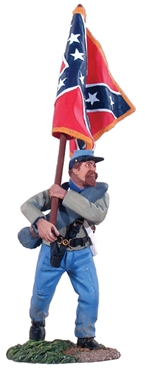 C.S.A. Infantry Flagbearer Advancing