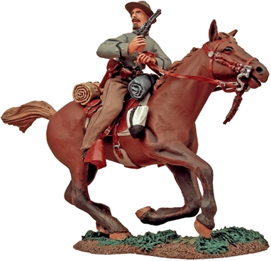 C.S.A. Cavalry Trooper Charging with Pistol #1