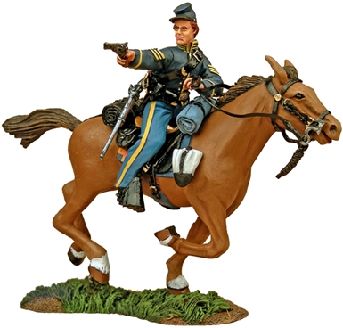Union Cavalry Trooper Charging with Pistol #1