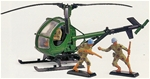 Deetail Task Force Helicopter and Two Soldiers