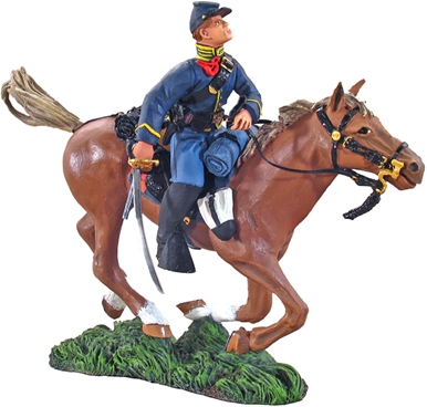 Union Cavalryman Charging with Saber #1