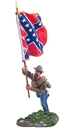 Confederate Infantry Flagbearer Charging #1