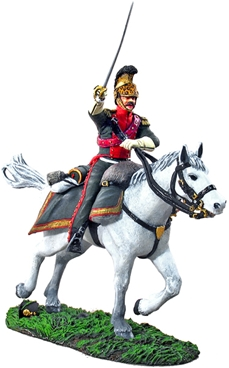 Officer French 4th Lancers Charging #1