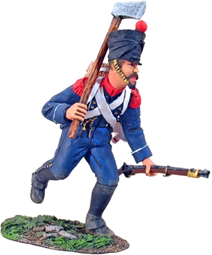 French Light Infantry Voltigeur Charging w Axe #1