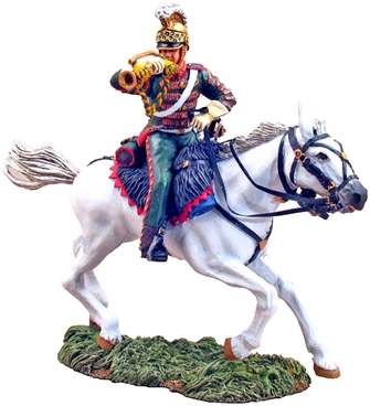 Bugler French 4th Lancers Charging #1