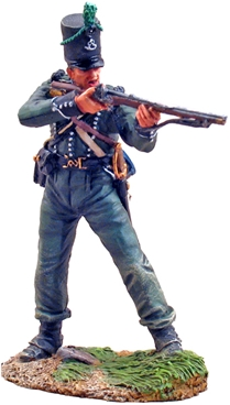British Rifleman Standing Firing - 95th Regiment