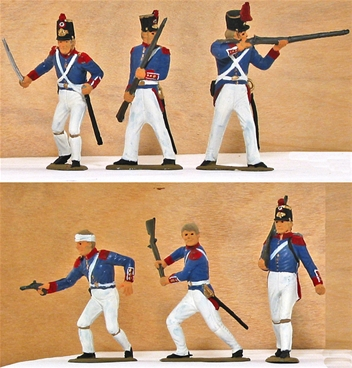 Mexican War Mexican Infantry - Fully painted