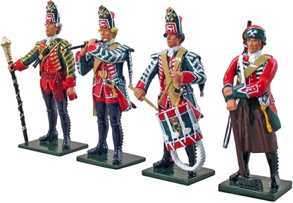 British 45th Regt Command Set #1 - 1754-1763