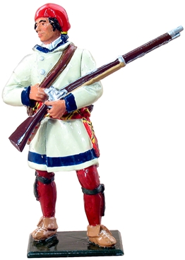 French Canadian Militia in Capote - 1755-1763
