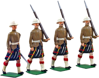 Queen's Own Cameron Highlanders Marching