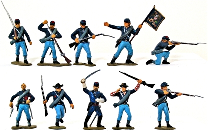 Civil War Union Infantry - Fully painted version