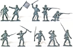 Confederate Infantry - cast in gray color
