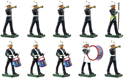 British Royal Marines 10 Piece Band