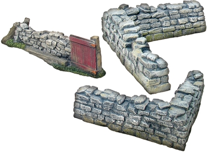 Gate and Corner Stonewall Section - 3 Piece Set