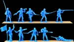 Union Infantry - cast in sky blue color