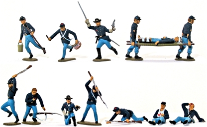 Civil War Centennial Poses - Fully-painted