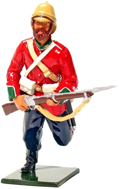 British 24th Foot Charging with Rifle