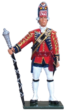British Drum Major 1st Foot Guards - 1754-1763