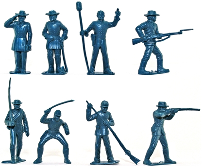 CSA Infantry - 8 in 8 poses in blue color