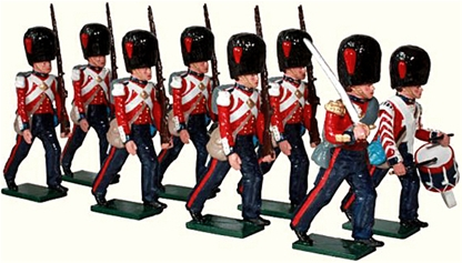 British Coldstream Guards Marching -  1854