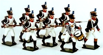 Napoleonic French Line Infantry Advancing