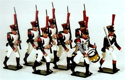 Napoleonic French Grenadiers of the Gd Marching