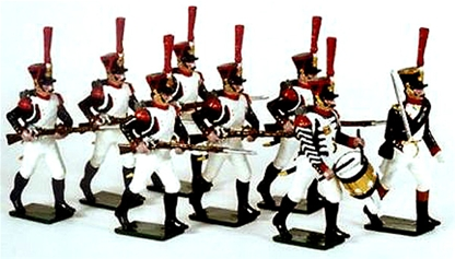 Napoleonic French Guard Grenadiers Advancing