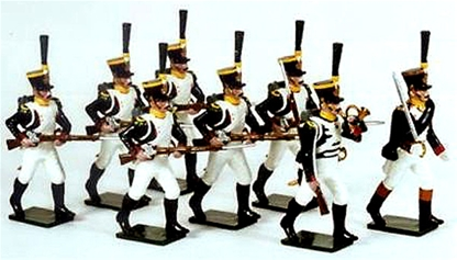 Napoleonic French Voltigeurs Advancing