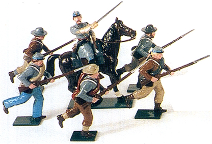 C.S.A. Infantry at the Charge
