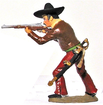 Mexican Irregular Cavalry Firing Carbine