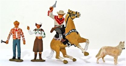 54mm Roy Rogers Characters - fully painted