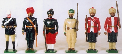 Types of the Indian Army Infantry & Artillery 1900
