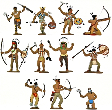 Fort Apache Indians - Fully painted