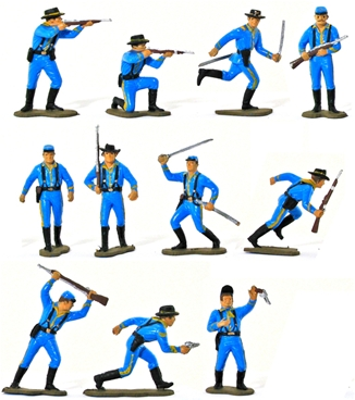 7th Cavalrymen - Basic painted in mid blue color