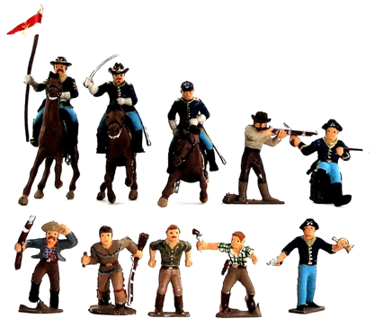 45mm 7th Cavalry & Frontiersmen - Fully painted