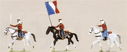 Mounted French Spahis In Action