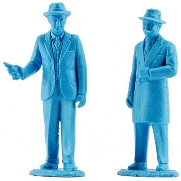 Elliott Ness and Al Capone Character Figures