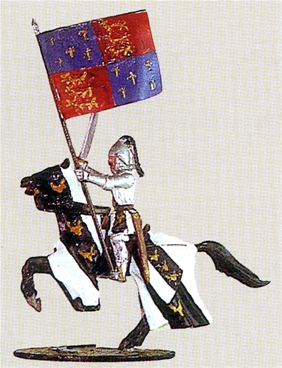 Sir Walter Woodland with English Royal Standard