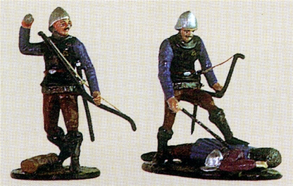 English Longbowmen with Dead French Knight