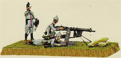 World War I German Machine Gun Team