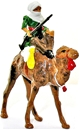 Mounted Arab on Camel with rifle