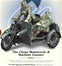 Clyno Motorcycle and Machine Gunner