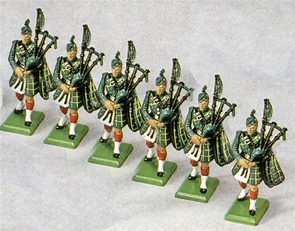 Gordon Highlanders Pipers - First version 1985