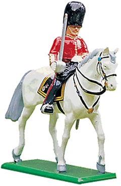 Scots Guards - Mounted officer with sword