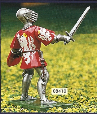 Red and White Foot Knight with Sword