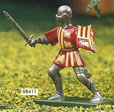 Red and Yellow Foot Knight with Sword