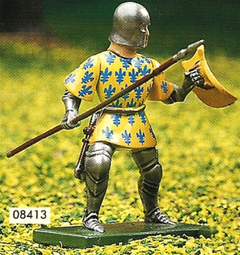 Yellow and Blue Foot Knight with Spear